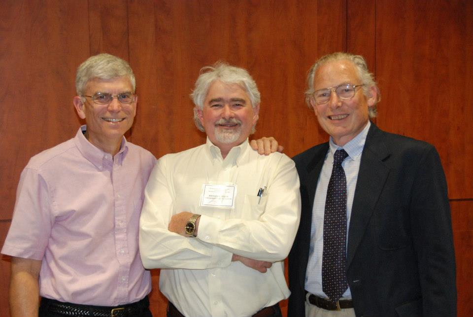 Art with his former postdoctoral advisor, Warren Abrahamson, and his PhD advisor, Peter Price.