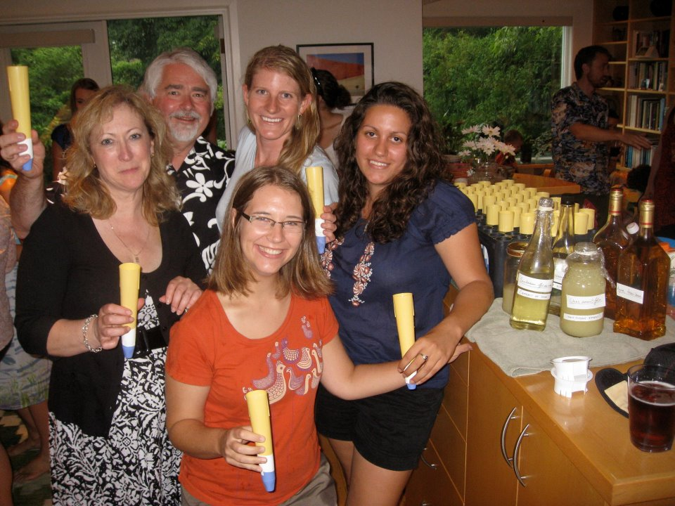 Container Margaritas at the garden party.  Clockwise, Art, Emily Austen, Susana Wadgymar, Jennifer Ison, and Jean Weis.